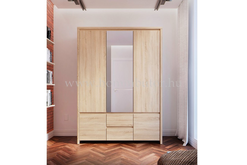 KASPIAN nyílóajtós szekrény 5 ajtós, 2 fiókos 154x211 cm