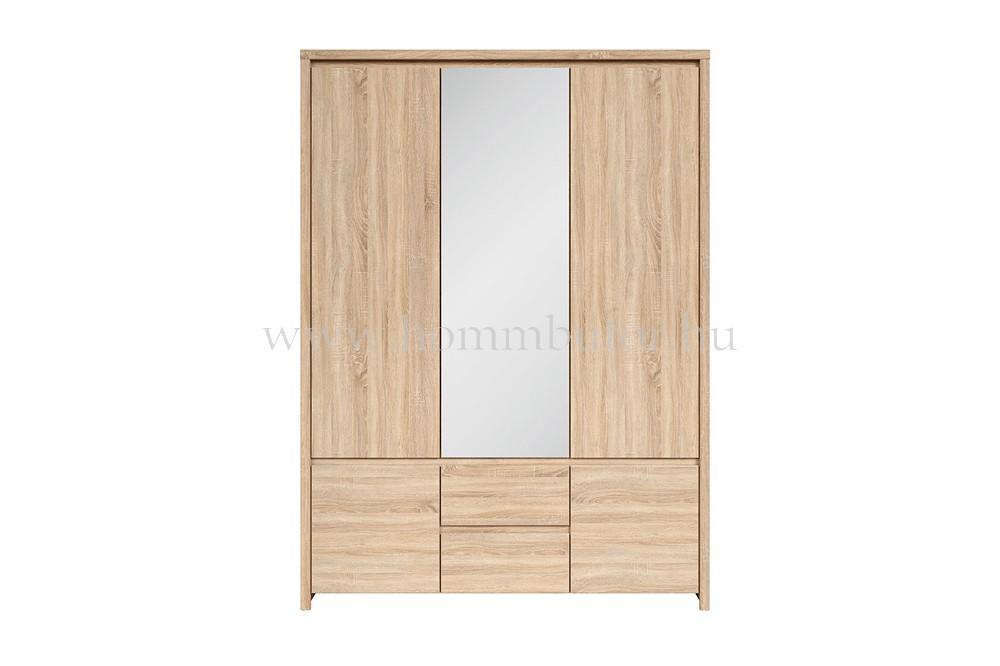 KAPIAN nyílóajtós szekrény 5 ajtós, 2 fiókos 154x211 cm