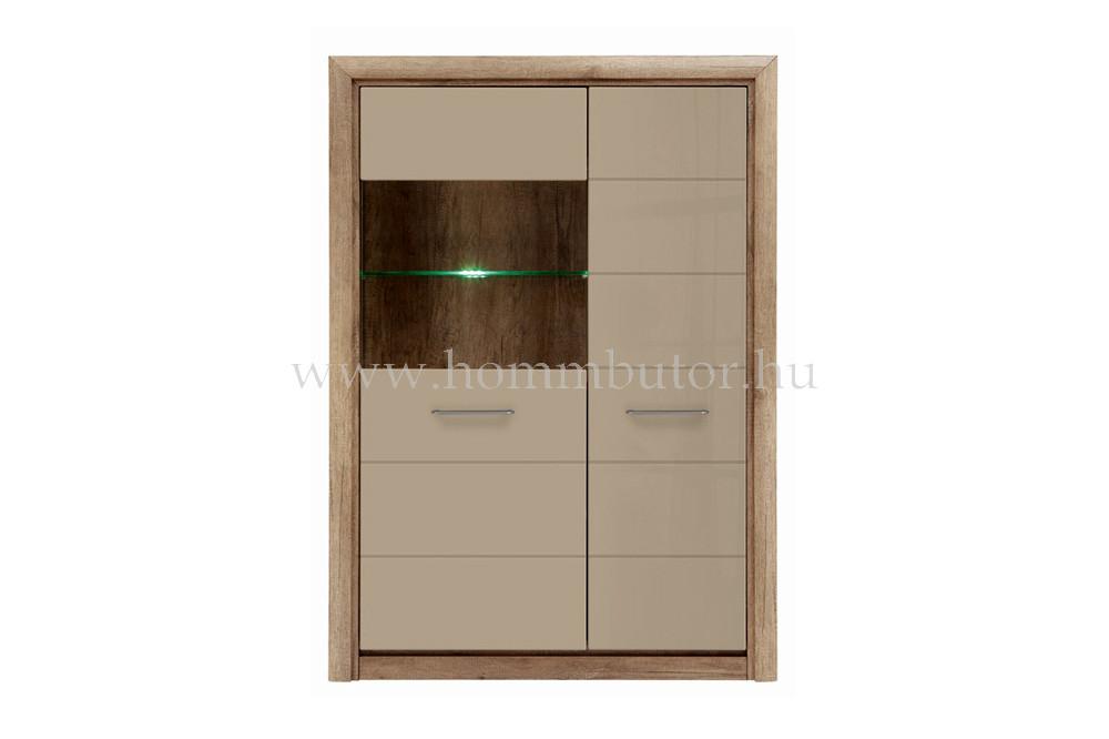 KOEN II vitrines szekrény 1 üvegajtós 1 ajtós 99x143 cm