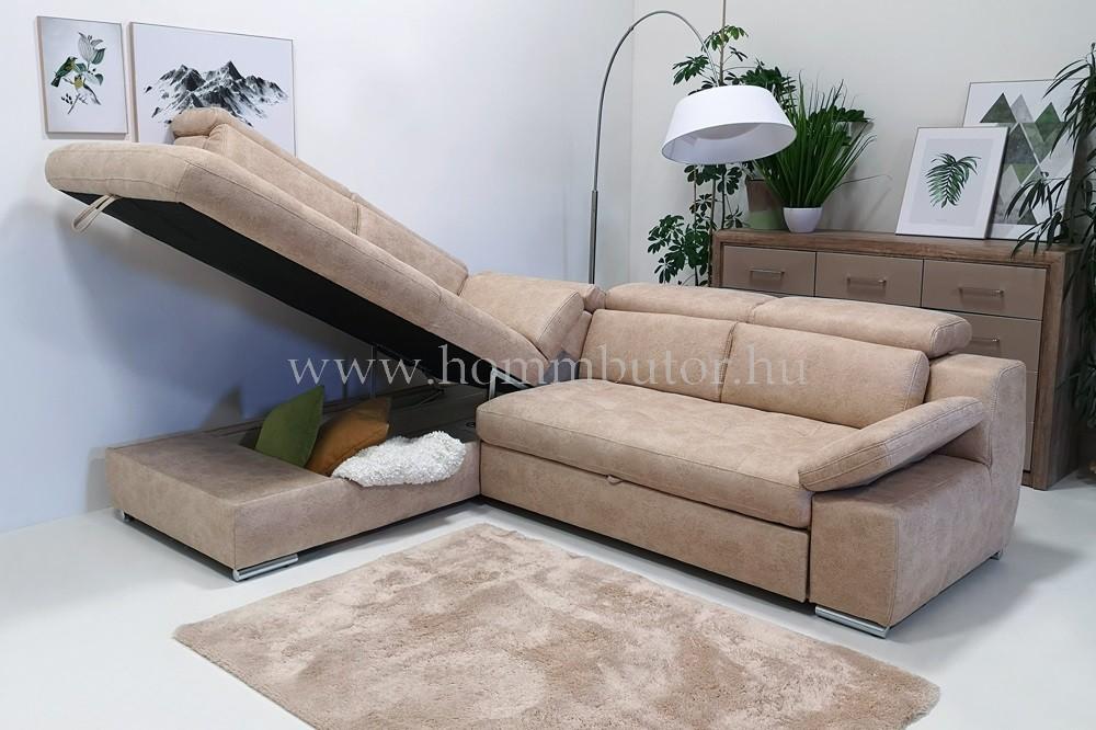 LA MOUR közepes méretű (286 x 220 cm) L-alakú sarok ülőgarnitúra ágyazható