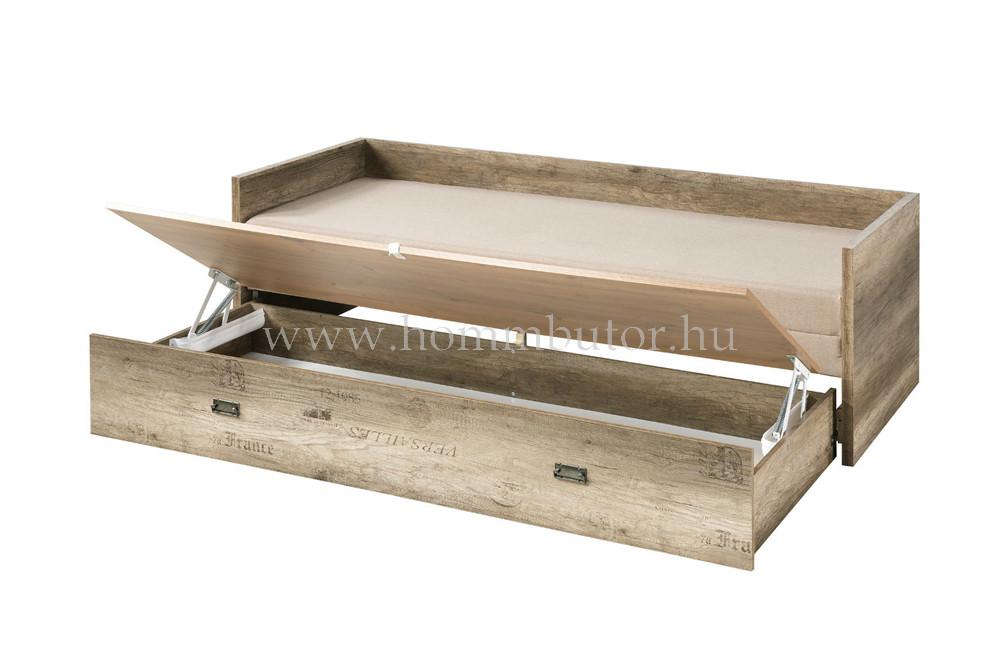 MALCOLM nyitható heverő ágyneműtartóval és vendégággyal 80x200 cm