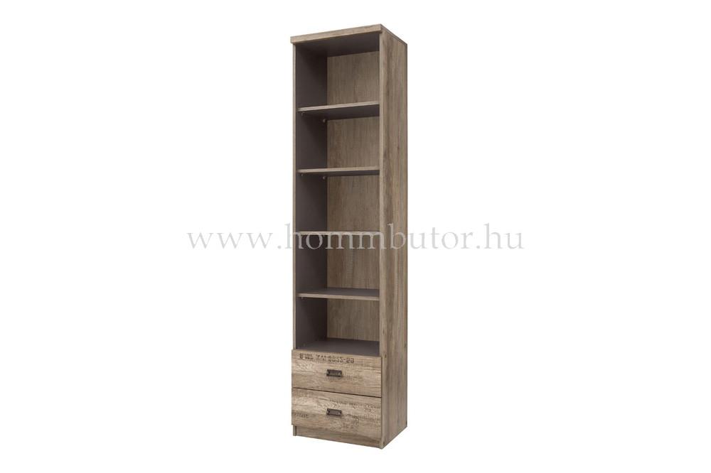 MALCOLM szekrény 2 fiókos 5 polcos 50x206 cm