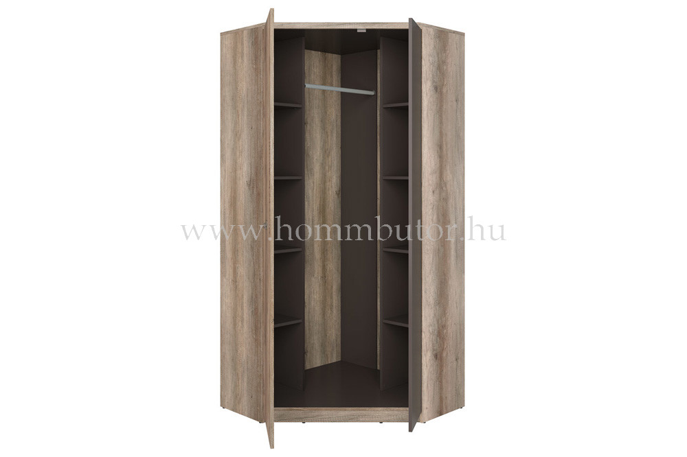 MALCOLM sarokszekrény 2 ajtós 96x206 cm