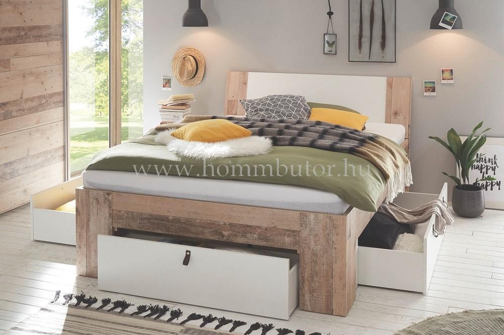 MEMPHIS komplett ágy ágyneműtartós 140x200 cm
