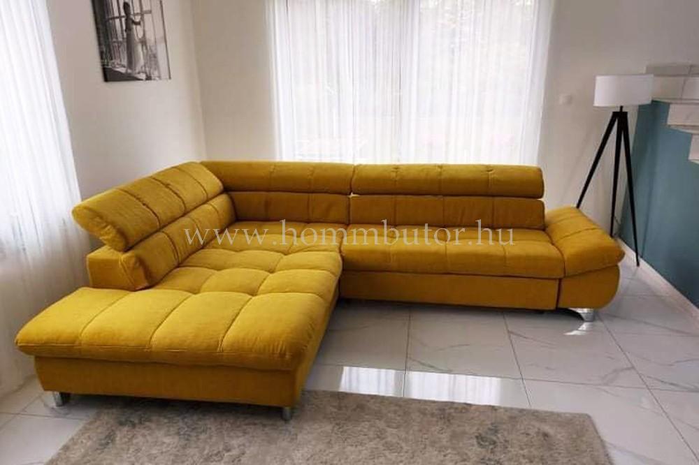 GEMINI nagy méretű (310x231cm) L-alakú sarok ülőgarnitúra ágyazható