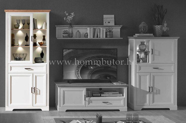 MENTA vitrines szekrény 1 üvegajtós 1 fiókos 2 ajtós 93x204 cm
