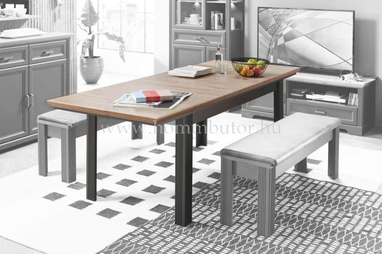 MENTA étkezőasztal 160x90 cm bővíthető kézműves tölgy-fehér színben