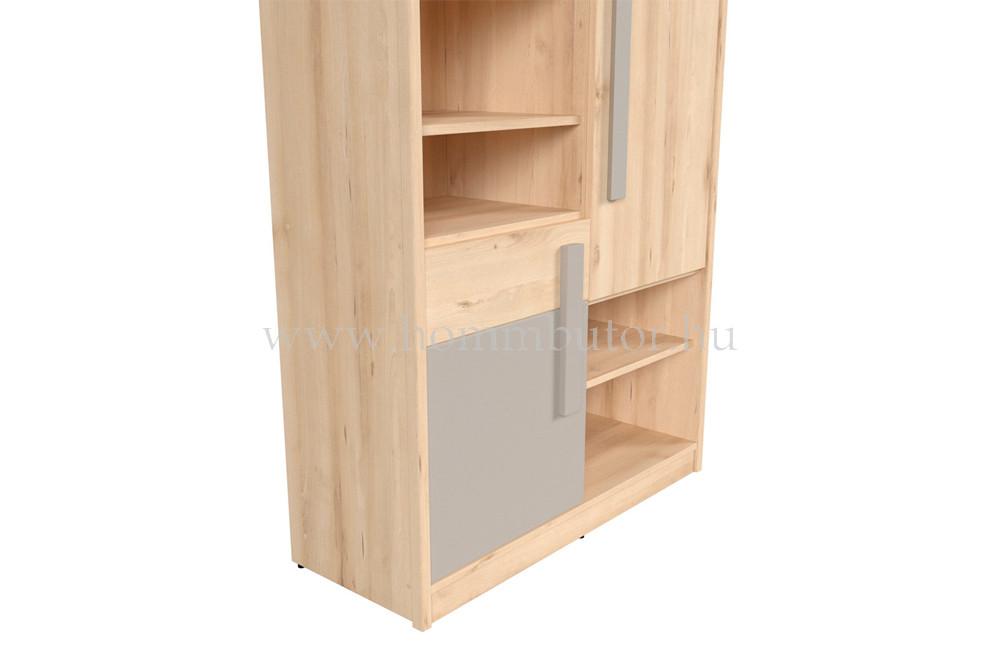 NAMEK szekrény 3 ajtós 5 polcos 95x199 cm