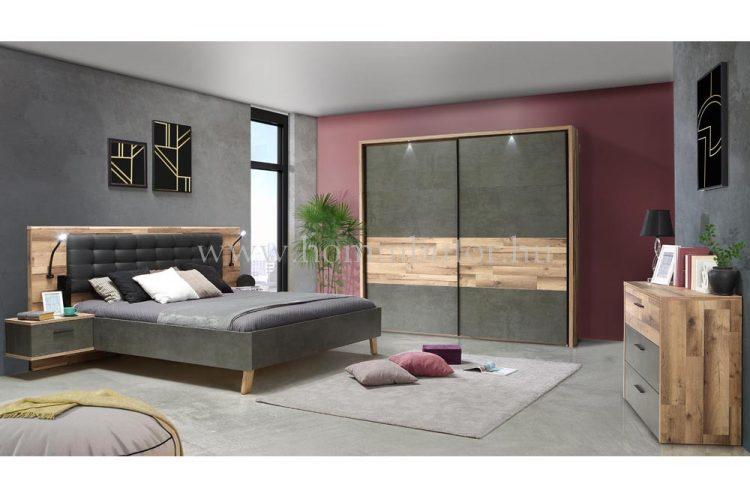 NANCY elemes hálószoba összeállítás * pl. 160x200 cm fix ágykeret éjjeliszekrénnyel *