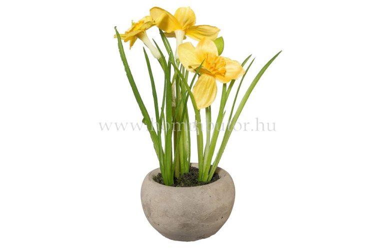 NÁRCISZ élethű növény dekoráció 15 cm magas
