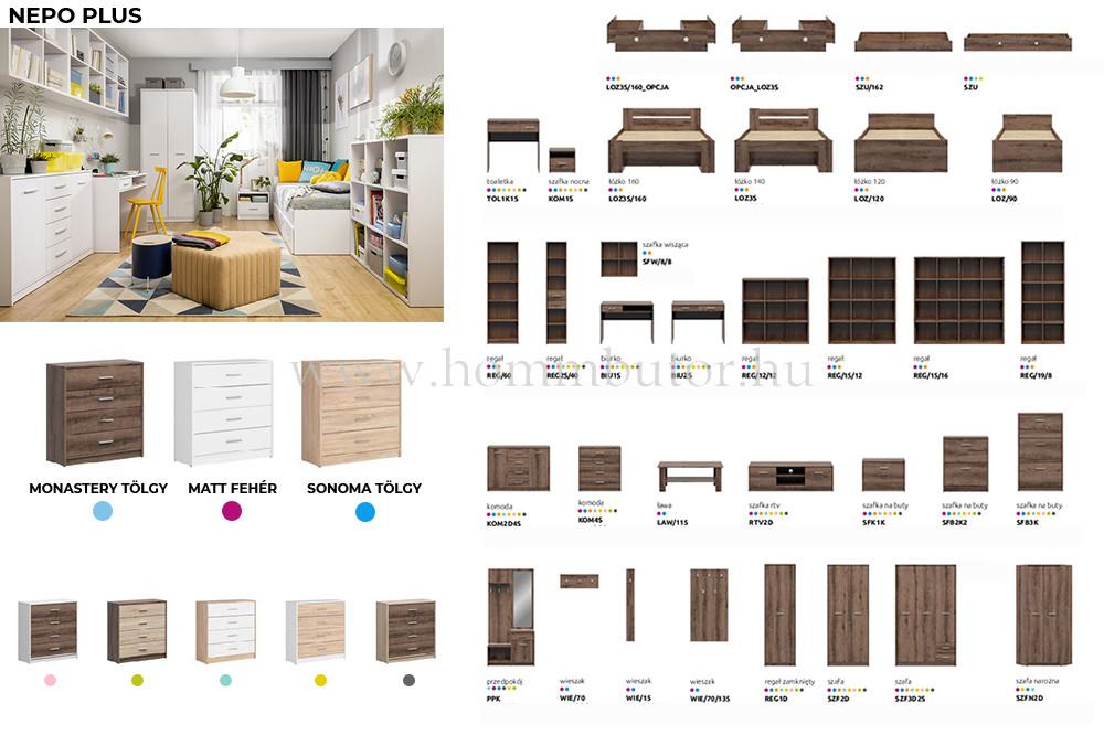 NEPO PLUS elemes nappali bútorcsalád