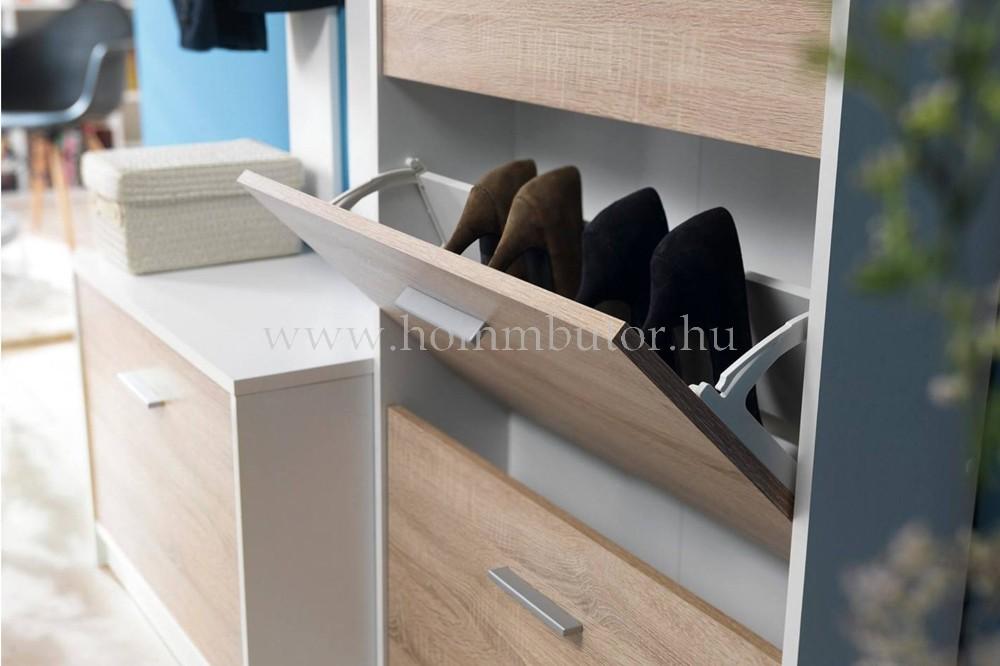 NEPO PLUS cipősszekrény 2 ajtós 70x84 cm