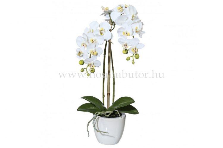 ORCHIDEA élethű növény dekoráció 43 cm magas