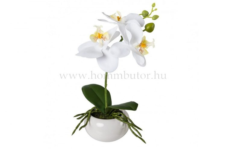 ORCHIDEA élethű növény dekoráció 27 cm magas