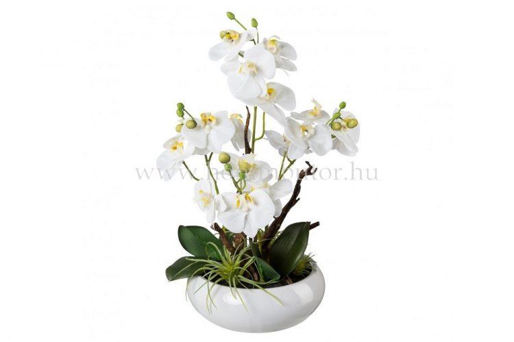 ORCHIDEA élethű növény dekoráció 46 cm magas