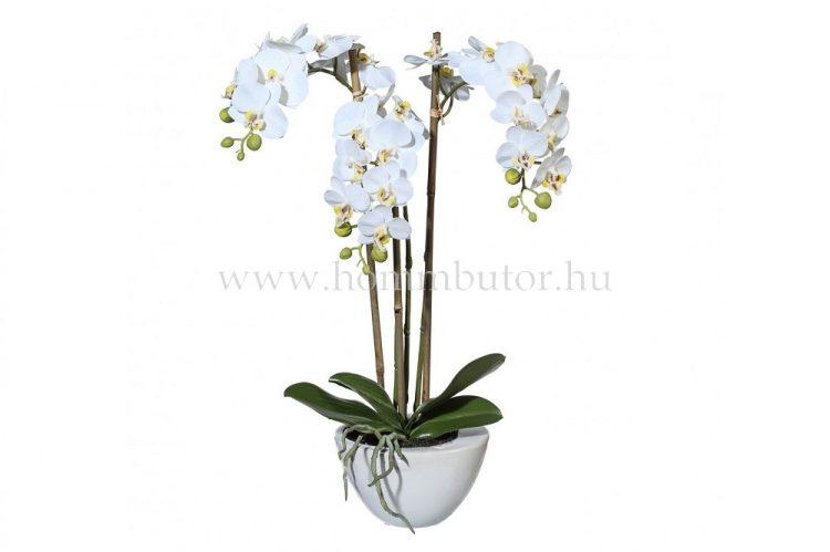 ORCHIDEA élethű növény dekoráció 51 cm magas