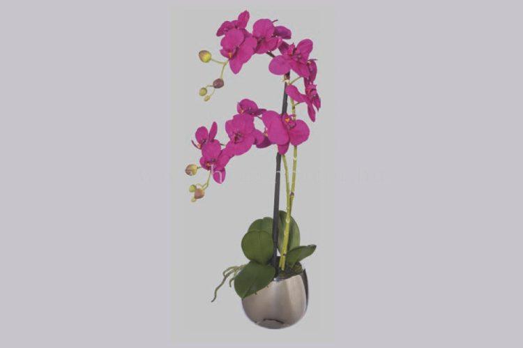 ORCHIDEA élethű növény dekoráció 52 cm magas