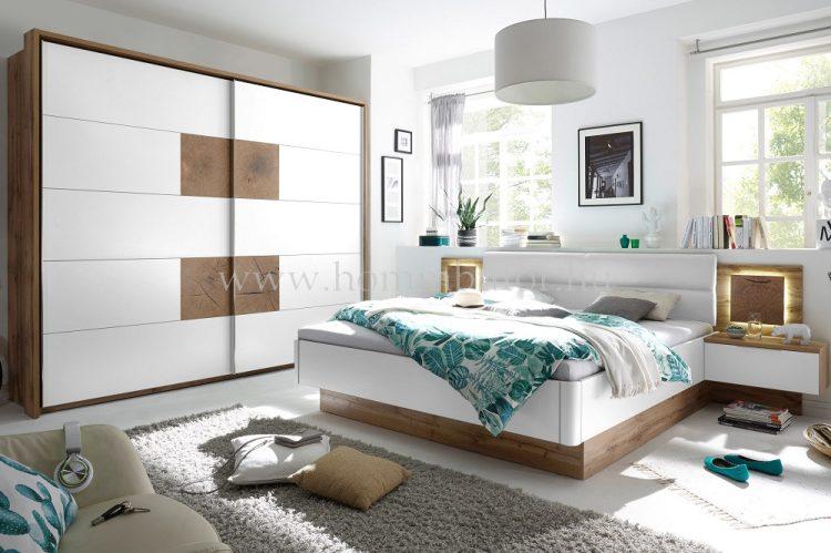 PACIFIC elemes hálószoba összeállítás * pl. 180x200 cm fix ágykeret éjjeliszekrényekkel *