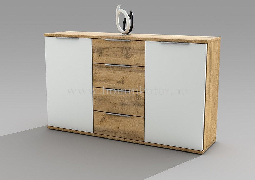 CAPRI komód 2 ajtós 4 fiókos 150x90 cm