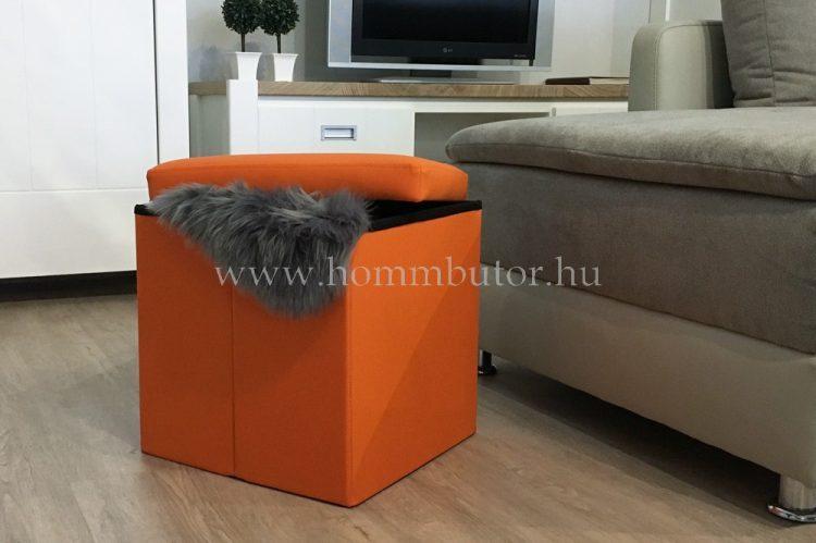 PACKAGE ülőke 40x40 cm narancs textilbőr