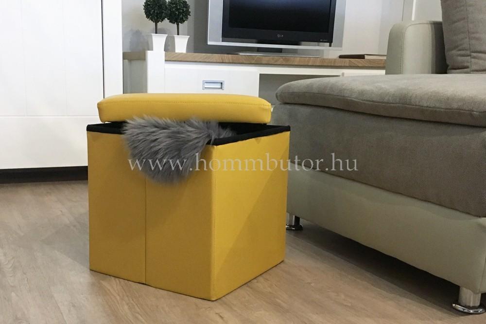 PACKAGE ülőke 40x40 cm sárga