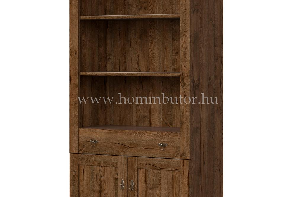 PATRAS szekrény 1 fiókos 2 ajtós 3 polcos 93x201 cm