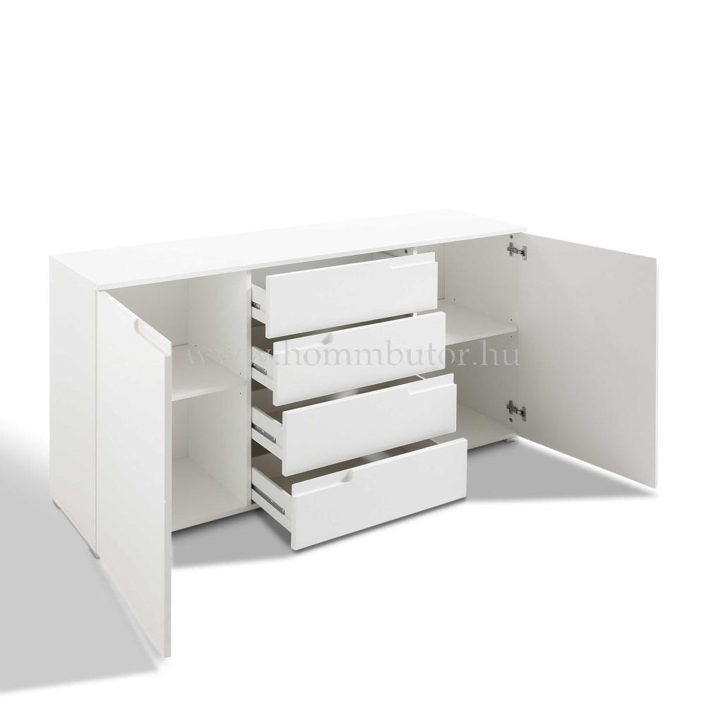 PIXEL 8 komód 2 ajtós 4 fiókos 165x81 cm