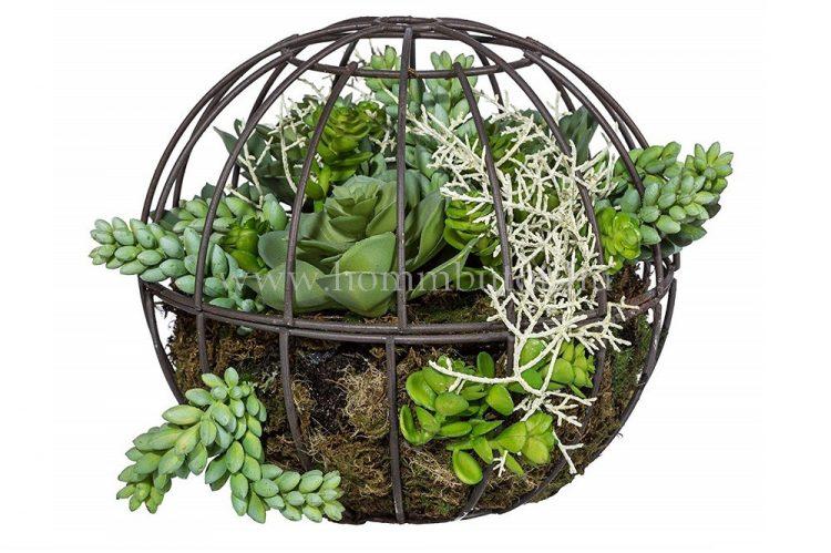 POZSGÁS élethű növény dekoráció 18 cm magas