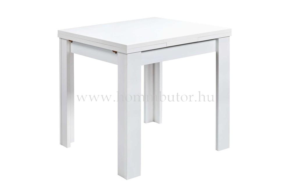 PLAY étkezőasztal 80x60 cm bővíthető matt fehér színben