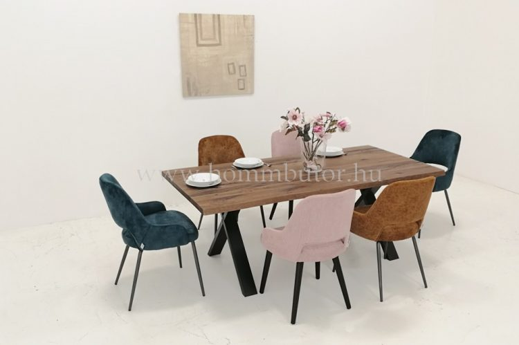ARTHUR tömör tölgy étkezőasztal fix 160-220x100 cm