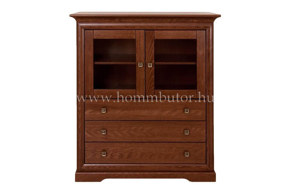 ROSSINI magas komód 2 ajtós 3 fiókos 115x130 cm