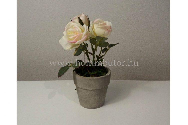 RÓZSA élethű növény dekoráció 14 cm magas