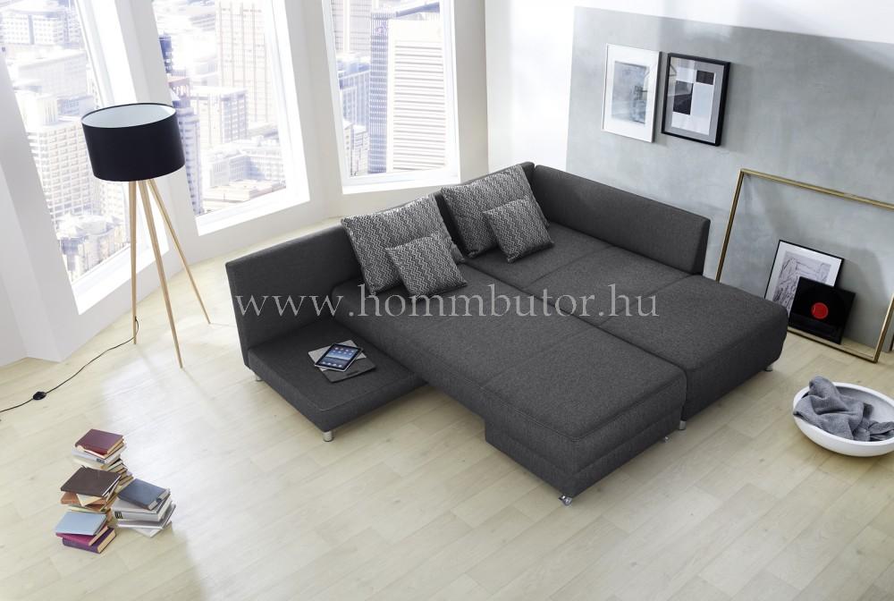 SELENA nagy méretű (300x213cm) L-alakú sarok ülőgarnitúra, ágyazható, akár mindennapos alvásra