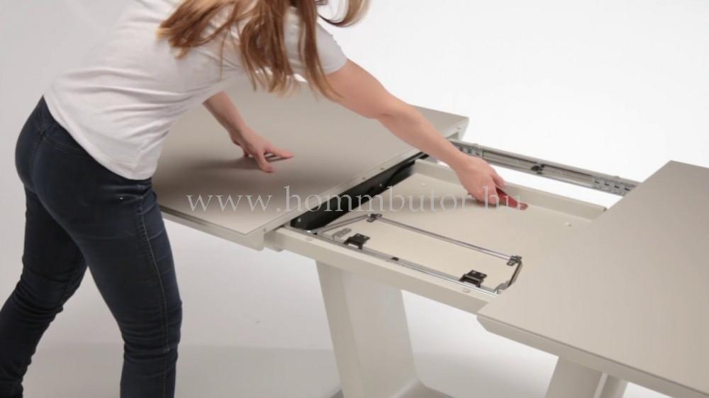 SPACE étkezőasztal 160x90 cm bővíthető kerámia lappal matt szürke színben