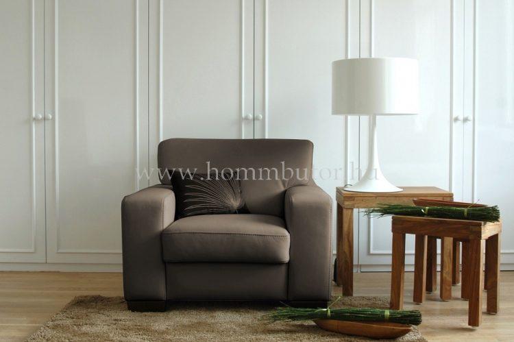 TARANTO bőr fix fotel 98x95 cm