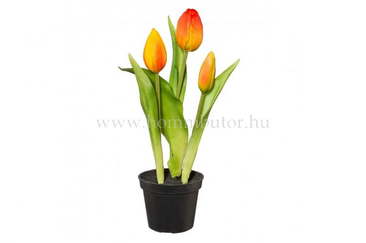 TULIPÁN élethű növény dekoráció 25 cm magas