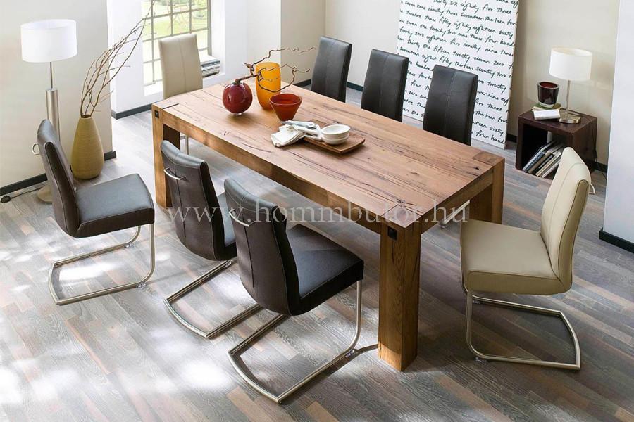 EDWARD tömör tölgy étkezőasztal 400x120 cm fix