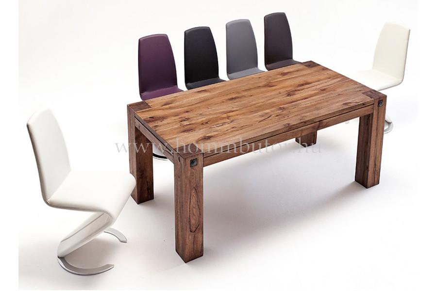 EDWARD tömör tölgy étkezőasztal 220x100 cm fix