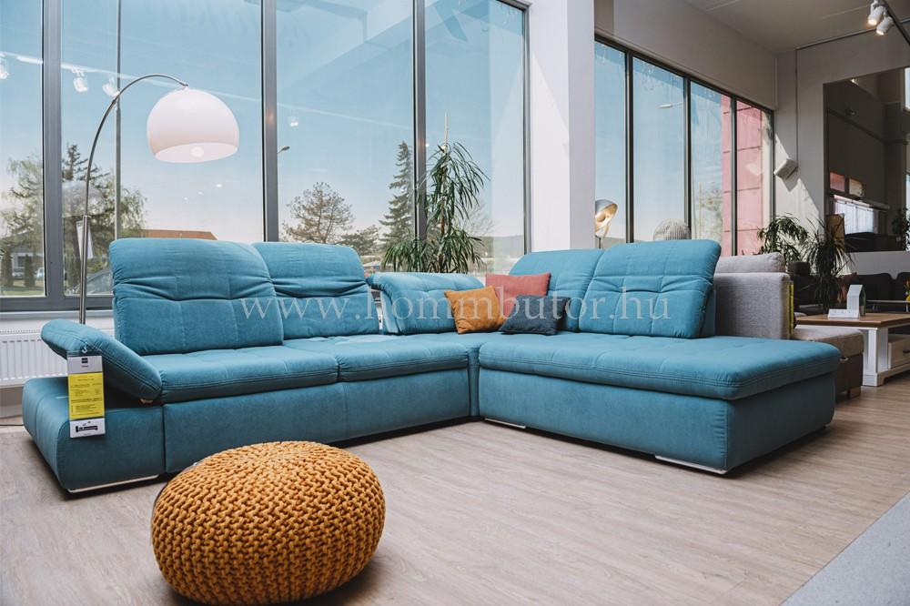 CALIFORNIA nagy méretű (302x253 cm) L alakú sarok ülőgarnitúra vendégággíal, ágyneműtartóval