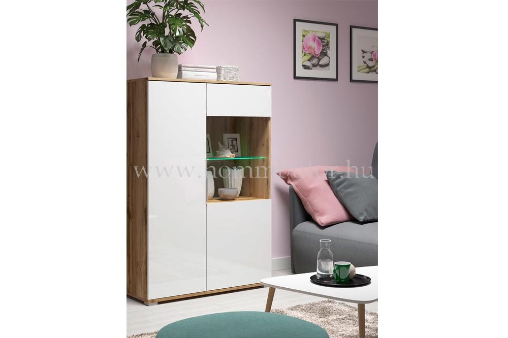 ZELE vitrines szekrény 90x132 cm