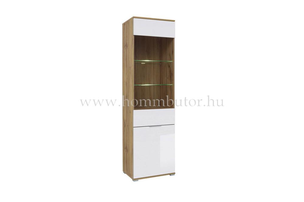 ZELE vitrines szekrény 56x195 cm