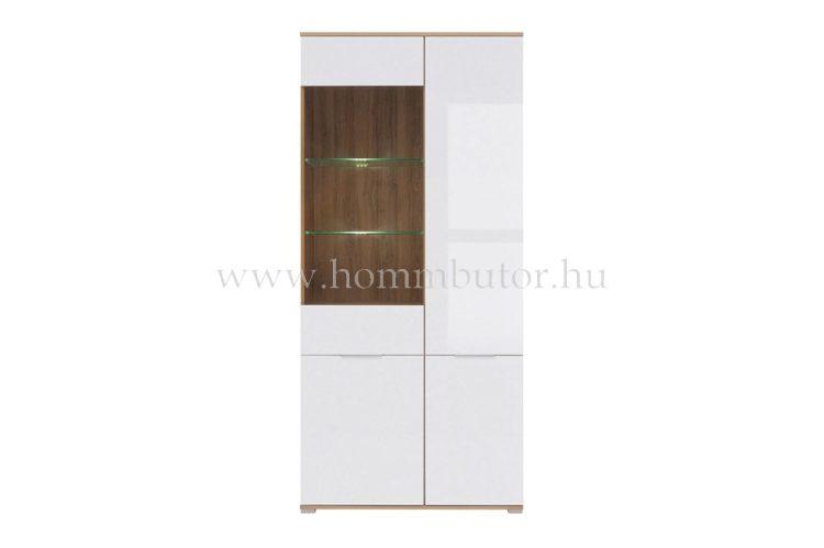 ZELE_vitrines szekrény 90x195 cm