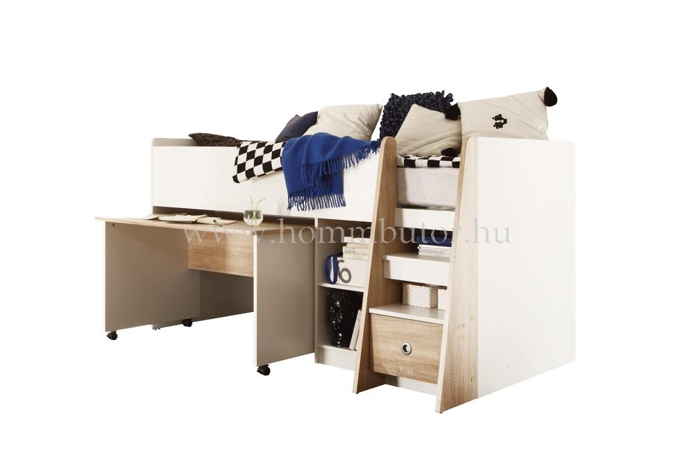ZÉNÓ félemeletes ágykeret íróasztallal 204x120 cm