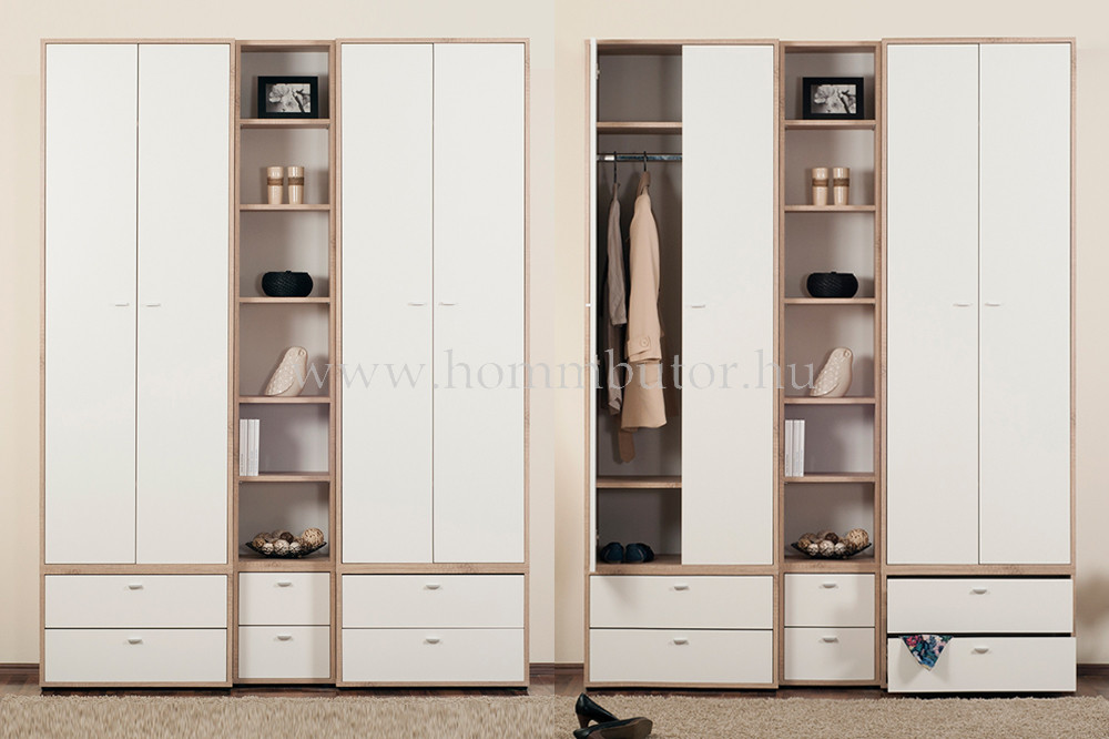 ZERO polcos szekrény 2 ajtós 72x196 cm