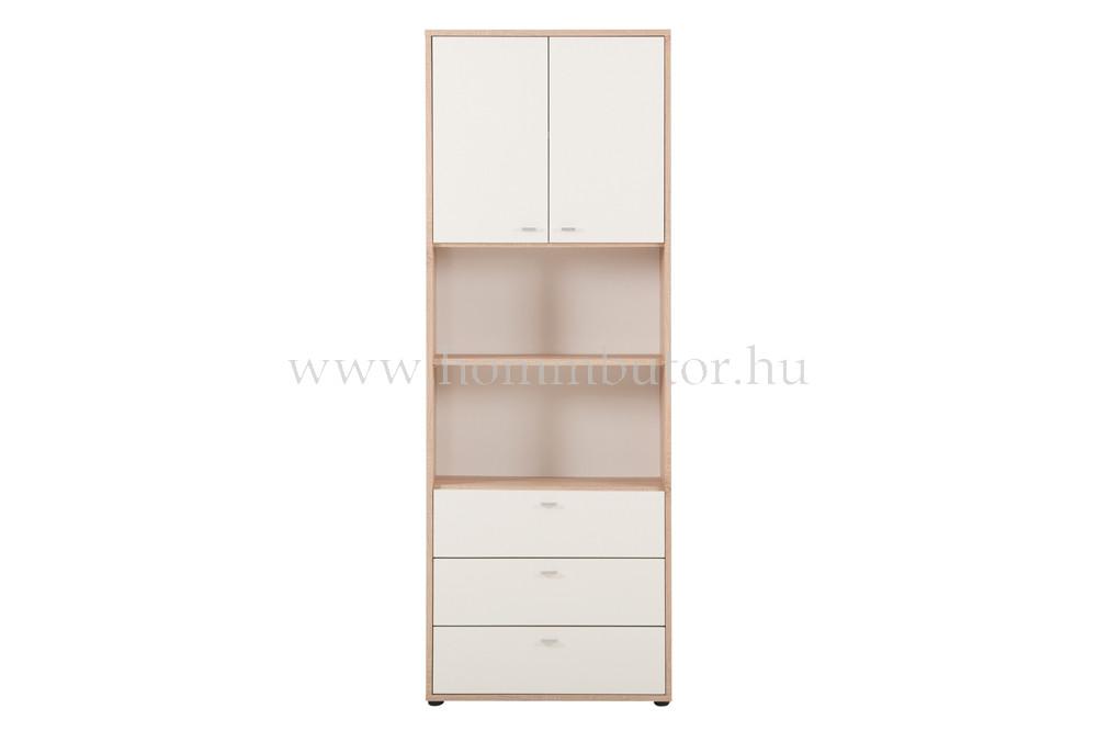 ZERO szekrény 3 fiókos 2 ajtós 2 polcos 72x196 cm