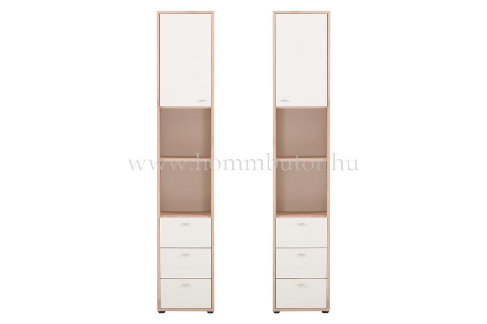 ZERO szekrény 3 fiókos 1 ajtós 2 polcos 38x196 cm