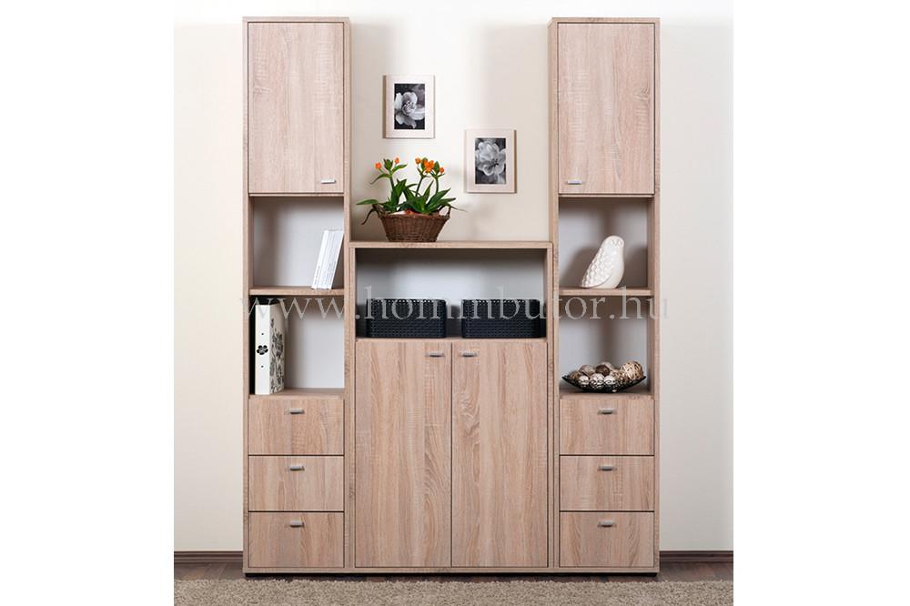 ZERO szekrény 3 fiókos 4 polcos 38x196 cm